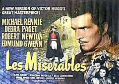 Les Miserables 1952 DVD - Michael Rennie / Debra Paget